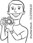 whiteboard drawing   smiling... | Shutterstock . vector #212550610