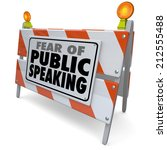Постер, плакат: Fear of Public Speaking