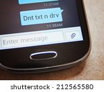 Cell Phone Message Don't Text  ...