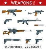 Постер, плакат: Flat design weapons tools