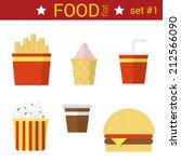flat design fast food vector...   Shutterstock .eps vector #212566090