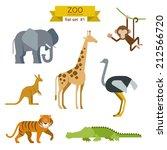 flat design vector animals icon ... | Shutterstock .eps vector #212566720