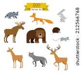 animal,bear,deer,design,flat,fox,hare,hedgehog,moose,mouse,nature,rabbit,template,vector,wild