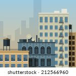 Flat City Background. New York...