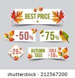 Autumn Sticker. Autumn Sale Se...