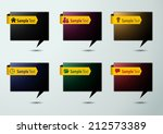 colorful modern speech bubble... | Shutterstock .eps vector #212573389