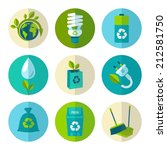 ecology and waste flat icons... | Shutterstock .eps vector #212581750