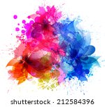 watercolor vector background... | Shutterstock .eps vector #212584396