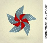 vintage handmade red and blue... | Shutterstock .eps vector #212590009
