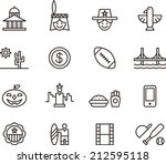 usa icons | Shutterstock .eps vector #212595118