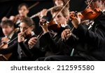 symphony orchestra first violin ... | Shutterstock . vector #212595580