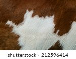 fragment of a skin of a cow | Shutterstock . vector #212596414
