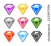 set of colorful diamonds for...