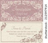 antique baroque wedding... | Shutterstock .eps vector #212597914