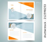 brochure design template vector ... | Shutterstock .eps vector #212598253