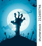 halloween background with... | Shutterstock .eps vector #212600746