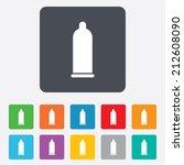 condom safe sex sign icon. safe ... | Shutterstock .eps vector #212608090