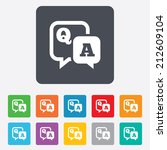 question answer sign icon. q a... | Shutterstock .eps vector #212609104