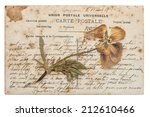 Dried Pansy Flower And Old Post ...