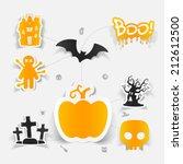halloween flat infographic | Shutterstock .eps vector #212612500