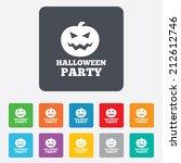 halloween pumpkin sign icon....   Shutterstock .eps vector #212612746