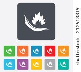 hot chili pepper sign icon.... | Shutterstock .eps vector #212613319