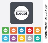logo sign icon. place for... | Shutterstock .eps vector #212615959