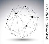 abstract deformed vector black...   Shutterstock .eps vector #212617570