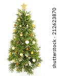 decorated christmas tree... | Shutterstock . vector #212623870