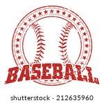 baseball design   vintage is an ... | Shutterstock .eps vector #212635960