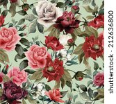 seamless floral pattern with... | Shutterstock . vector #212636800