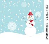 snowman | Shutterstock .eps vector #212637469