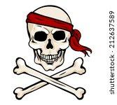 vector single cartoon pirate...   Shutterstock .eps vector #212637589