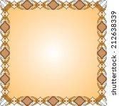 vintage frame with floral... | Shutterstock . vector #212638339