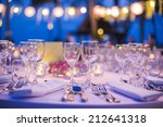 table setting for wedding or... | Shutterstock . vector #212641318