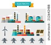 electricity set of industry... | Shutterstock .eps vector #212642488