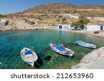 traditional fishing boats in ag.... | Shutterstock . vector #212653960