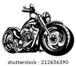 vector cartoon motorbike....