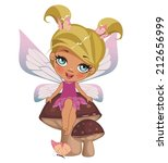 a beautiful fairy isolated on a ... | Shutterstock . vector #212656999
