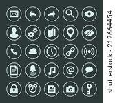 web site icons set vector... | Shutterstock .eps vector #212664454