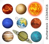 vector illustration planets... | Shutterstock .eps vector #212664616