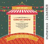vintage circus show poster... | Shutterstock .eps vector #212665828