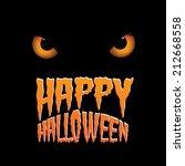 owl eyes happy halloween design ... | Shutterstock .eps vector #212668558