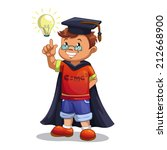cartoon boy wearing master's... | Shutterstock .eps vector #212668900