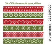 set of vintage christmas washi... | Shutterstock .eps vector #212669320