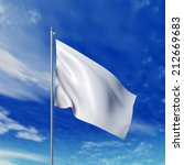 waving white flag against... | Shutterstock . vector #212669683