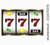 slot machine shinny. vector...   Shutterstock .eps vector #212670370