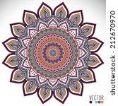 mandala. round ornament pattern.... | Shutterstock .eps vector #212670970