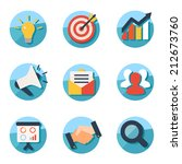 business and marketing icons | Shutterstock .eps vector #212673760