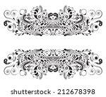 black silhouette of decorative...   Shutterstock .eps vector #212678398